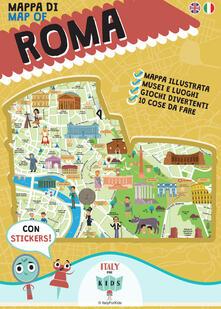 Mappa di Roma illustrata. Ediz. multilingue - copertina