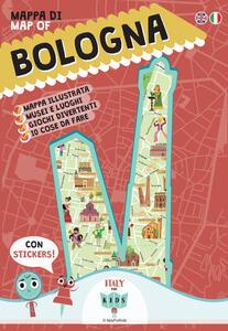 Mappa di Bologna Illustrata. Con adesivi. Ediz. italiana e inglese