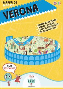 Mappa di Verona illustrata. Con adesivi - Sara Dania,Donata Piva - copertina
