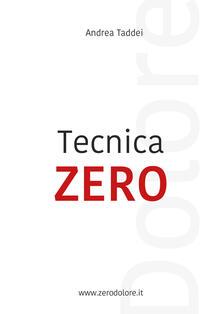 Tecnica zero dolore - Andrea Taddei - copertina