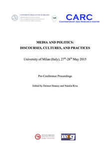 Media and politics. Discourses, cultures, and practices. Pre-Conference proceedings. University of Milan (Italy), 27th-28th may 2015 - copertina