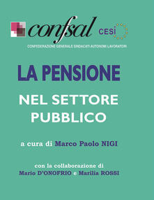 La pensione nel settore pubblico - copertina