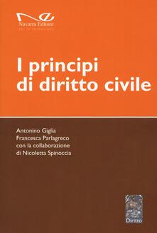 I principi di diritto civile - Antonino Giglia,Francesca Parlagreco,Nicoletta Spinoccia - copertina