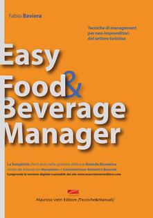 Easy food & beverage manager - Fabio Baviera - copertina