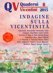 Quaderni vicentini (2015). Vol. 6 - copertina