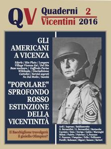 Quaderni vicentini (2016). Vol. 2 - copertina