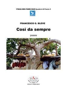 Così da sempre - Francesco G. Bleve - copertina