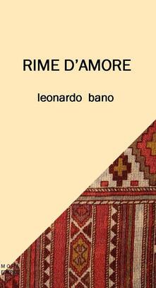 Rime d'amore - Leonardo Bano - copertina