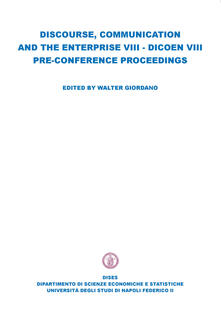 Discourse, comunication and the enterprise VIII. Dicoen 8° pre-conference proceedings - Walter Giordano - copertina