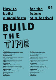 How to build a manifesto for the future of a festival. Build the time - copertina