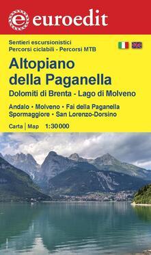Altopiano della Paganella, Dolomiti di Brenta, lago di Molveno. Andalo, Molveno, Fai della Paganella, Spormaggiore, San Lorenzo-Dorsino 1:30.000 - copertina