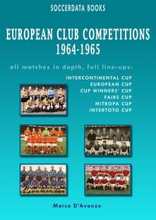 European Club competitions (1964-1965) - copertina