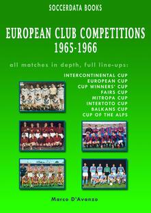 European club competitions (1965-1966) - Marco D'Avanzo - copertina