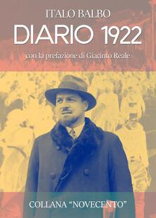 Diario 1922 - Italo Balbo - copertina