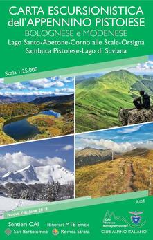 Premioquesti.it Carta escursionistica dell'Appennino pistoiese bolognese modenese 1:25.000. Lago Santo-Abetone-Corno alle Scale-Orsigna Sambuca Pistoiese-Lago di Suviana Image