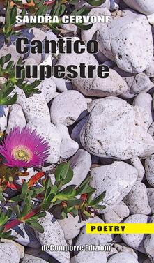 Cantico rupestre - Sandra Cervone - copertina