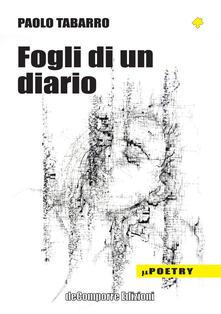 Fogli di un diario - Paolo Tabarro - copertina