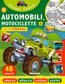 Listadelpopolo.it Automobili e Motociclette. Attaccami e colorami. Con adesivi Image