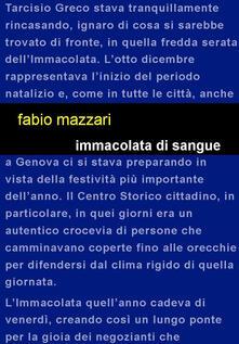 Immaccolata di sangue - Fabio Mazzari - copertina