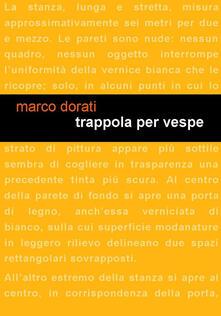 Trappola per vespe - Marco Dorati - copertina