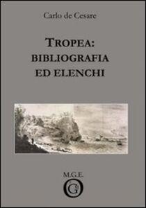 Tropea: bibliografia ed elenchi