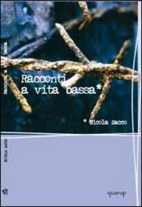 Racconti a vita bassa - Nicola Sacco - copertina