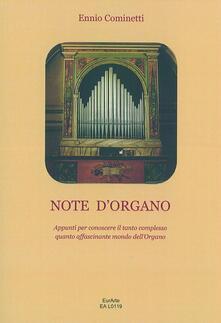 Birrafraitrulli.it Note d'organo. Appunti per conoscere il tanto complesso quanto affascinante mondo dell'organo Image