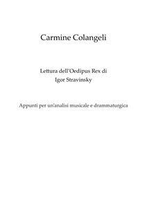 Lettura dell'Oedipus Rex di Igor Stravinsky. Appunti per un'analisi musicale e drammaturgica