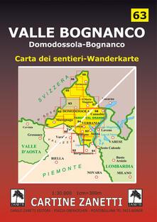 Vitalitart.it Valle Bognanco. Domodossola, Bognanco Fonti, San Lorenzo, Gomba, San Bernardo, Passo di Monscera 1:30.000 Image