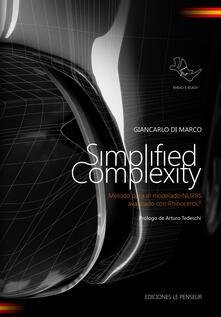 Steamcon.it Simplified complexity. Método para el modelado NURBS avanzado con Rhinoceros. Ediz. integrale Image