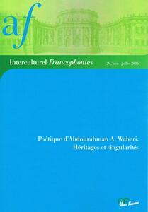 Poétique d'Abdouraham A. Waberi. Héritages et singularitès