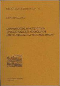 La formazione del concetto d'Italia. Tradizioni politiche e storiografiche nell'età precedente la «Rivoluzione romana»