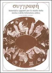 Ristorantezintonio.it Syggraphè. Materiali e appunti per lo studio della storia e della letteratura. Vol. 7 Image
