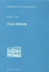 Italia romana - Emilio Gabba - copertina