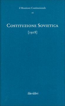 Camfeed.it Costituzione sovietica (1918). Ediz. multilingue. Vol. 9 Image