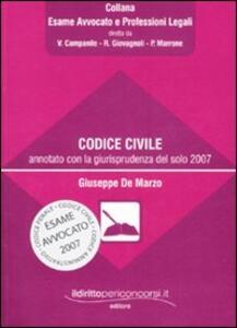 Codice civile annotato con la giurisprudenza del solo 2007