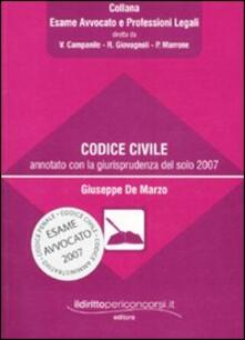 Antondemarirreguera.es Codice civile annotato con la giurisprudenza del solo 2007 Image