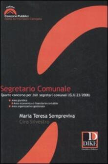 Segretario comunale. Quarto concorso per 260 segretari comunali (G.U. 23/2008).pdf