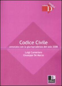 Codice civile annotato con la giurisprudenza del solo 2008