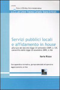 Libro Servizi pubblici locali e affidamento in House Ilaria Rizzo