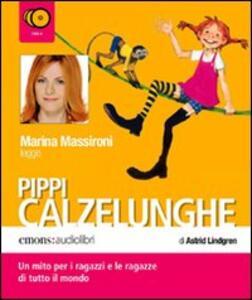 Pippi Calzelunghe. Prima parte letto da Marina Massironi. Audiolibro. 2 CD Audio
