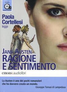 Ragione e sentimento letto da Paola Cortellesi. Audiolibro. 1 CD Audio formato MP3. Ediz. integrale