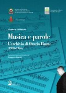 Musica e parole. L'archivio di Orazio Fiume (1908-1976)