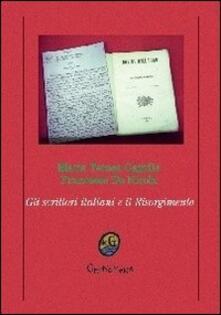 Gli scrittori italiani e il Risorgimento - Francesco De Nicola,Maria Teresa Caprile - copertina