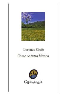 Come se tutto bianco - Lorenzo Ciufo - copertina