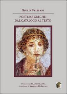 Poetesse greche. Dal catalogo al testo