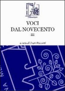 Voci dal Novecento. Vol. 3