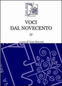 Voci dal Novecento. Vol. 4