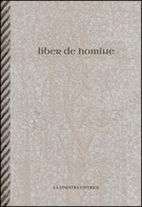 Liber de homine. Testo latino a fronte