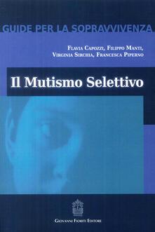 Fondazionesergioperlamusica.it Il mutismo selettivo Image